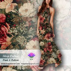 seamless floral #patterns on @Etsy Shop http://etsy.me/1Ug9iCc  #seamless #floral #fashion #moda #etsy #vintage #art