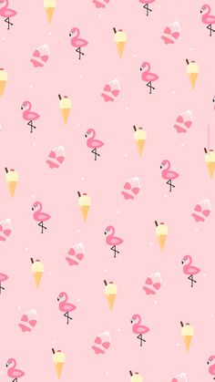 Wallpaper Glace Flamingo summer