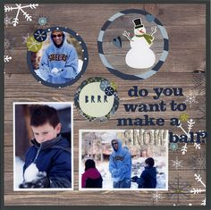 Do You Want to Make a Snowball? - Scrapbook.com - Made with Simple Stories Snow Fun Collection and Simple Stories Circle Crops.