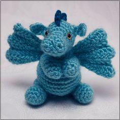 PATTERN: Darby the Dragon amigurumi // cute animal crochet pattern. $3.99, via Etsy.