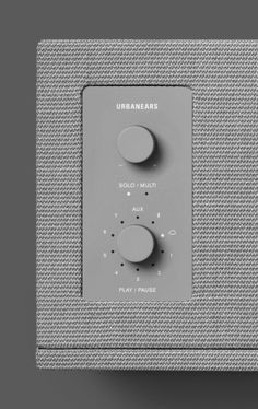 Button Cube Grey Material Break Minimalist Plastic Speakers Textile / Fabric Urbanears