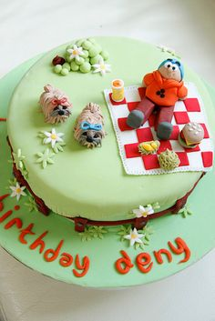 Picnic Birthday Cake by Bake-a-boo Cakes NZ, via Flickr Picnic Birthday, Birthday Cake, Cupcake Cakes, Cupcakes, Cupcake Ideas, Bake A Boo, Fancy Cakes, Cakes And More, Clay Creations