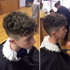 Undercut Curly Hair, Curly Hair Cuts, Long Curly Hair, Curly Hair Styles, Perm Hair Men, Men Perm, Permed Hairstyles, Hairstyles Haircuts, Boys With Curly Hair