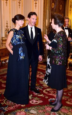 Newlyweds Sophie Hunter and Benedict Cumberbatch joined the Princess Royal for a Motor Neu...
