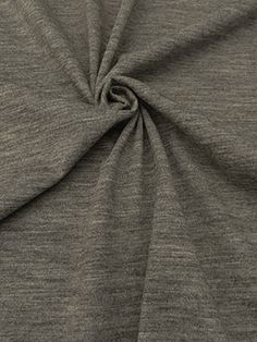 New Arrival! Heathered Gray 100% Wool Jersey Knit 54W