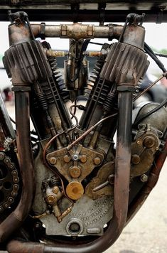 INDIAN, I.O.E. (Inlet Over Exhaust) engine