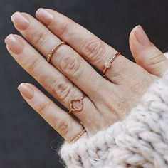 diamonds are a girl's best friend - this wonderful shiny ring was made of 18k rose gold I NEWONE-SHOP.COM