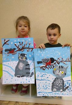 Classroom Art Projects, School Art Projects, Art Classroom, Christmas Arts And Crafts, Winter Crafts For Kids, Diy For Kids, Preschool Arts And Crafts, Art Lessons Elementary, Winter Art