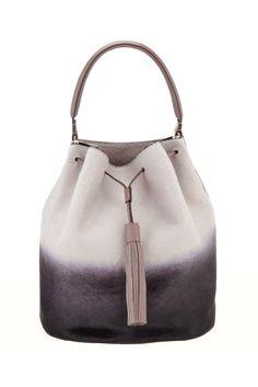 Anya Hindmarch Vaughan Grey Two-Tone Bucket Bag Fashion Bags, Fashion Accessories, Uk Fashion, Mk Bags, Anya Hindmarch, New Bag, Beautiful Bags, Hugo Boss, Michael Kors Bag