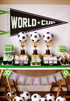 Festa Futebol  60 Ideias de Decoração com Fotos do Tema 324c8c2cf04b0