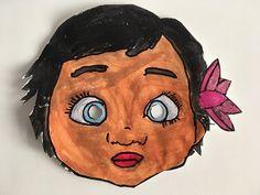 La boite à idées de l' atelier 3B : masques de MAUI et VAIANA (Moana)