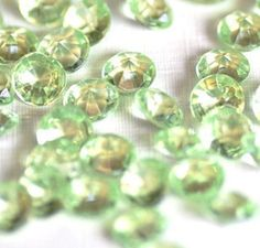 Pale Green 4mm Acrylic Crystals for Floating Lockets $0.20 thecraftstar, crystals, crafting supplies