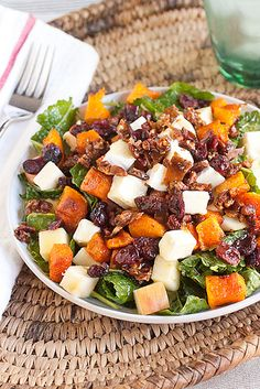 Sweet and Salty Fall Harvest Salad - I would take out some of the ingredients to make this healthier