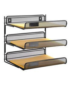 Black Price Remains Stable Objective Mesh Wall Literature Holder Magazine Hanging File Office Organizer Silver Office Equipment & Supplies