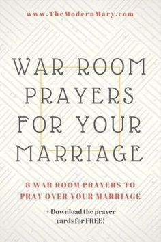 War Room Prayers to Pray Over Your Marriage - The Modern Mary