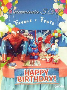 #dolcemania #palloncini #puglia #sangiovannirotondo #balloons #balloon #foggia #gargano #italia #italy #uomoragno #spiderman #amazingspiderman #compleanno #birthday #party #festa #marvel #table #sweettable