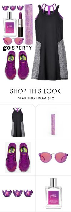 """""""Go Sporty"""" by katrinaalice ❤ liked on Polyvore featuring Titika, NIKE, Haze, Cultural Intrigue and philosophy"""