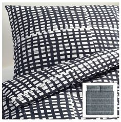 Ikea black and white bedding