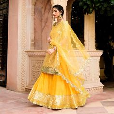Check 25 special times we couldn't stop swooning over designer wedding suits here. Indian Dresses, Indian Outfits, Indian Clothes, Mehndi Dress, Mehndi Outfit, Lehenga Choli, Anarkali Dress, Sharara, Wedding Suits