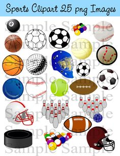 Sports Digital Clipart , Sports Clip art, baseball,