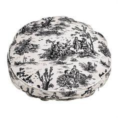 Bowser Onyx Toile (white) Microvelvett Round Bed