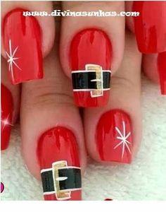 Christmas Nail Designs - My Cool Nail Designs Cute Christmas Nails, Christmas Nail Art Designs, Holiday Nail Art, Xmas Nails, Xmas Nail Art, Cute Nails, Pretty Nails, Nail Art Noel, Gel Nagel Design