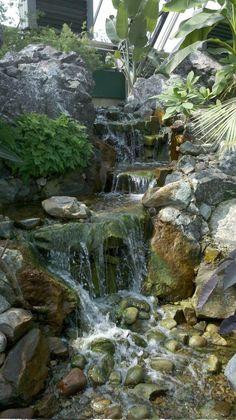 Indoor waterfall... | Art Around Us | Pinterest | Indoor waterfall ...