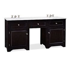 Houlton Double Sink Console #potterybarn