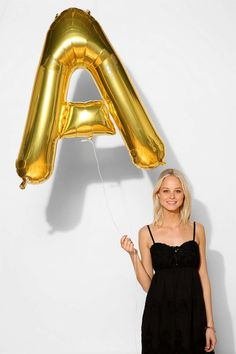 Shop Gold Letter Party Balloon at Urban Outfitters today. We carry all the latest styles, colors and brands for you to choose from right here. Gold Letter Balloons, Number Balloons, Gold Letters, Mylar Balloons, New Years Eve Weddings, 50th Birthday Party, Backyard Birthday, Happy Birthday, Birthday Weekend