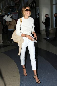 Candice Swanepoel -- chic in white