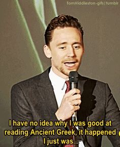 Tom Hiddleston is a f*****g demi-god !!! Oo We should buy him a Half-Blood Camp T-shirt and send it to him ^^