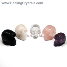 Crystal Mini-Skulls Assortment 1 (5pcs.) (India) - Healing Crystals  In metaphysics, Crystal Skulls are used for ceremonial work, healing, energy work, and enhancing one's psychic abilities.  Code HCPIN10 = 10% discount