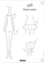 ARTESANATO COM QUIANE - Paps,Moldes,E.V.A,Feltro,Costuras,Fofuchas 3D: Molde Tilda roupa de praia