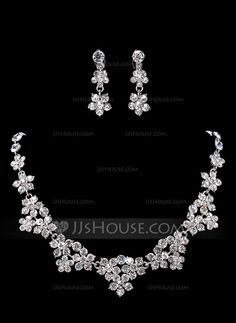Elegant Alloy With Rhinestone Women's Jewelry Sets (011017879) - JJsHouse