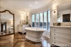 Bearspaw {Burma} Master Bathroom // Veranda Estate Homes & Interiors