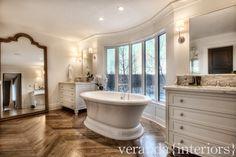 Bearspaw {Burma} Master Bathroom // Veranda Estate Homes & Interiors