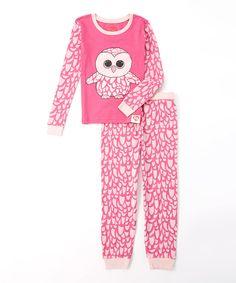 Pinky Pajama Set - Girls by Beanie Boos #zulily #zulilyfinds