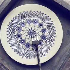 Lace ceramic plate #dinner #party #friends #like4like #life #design #decor #ceramics #lace #summer