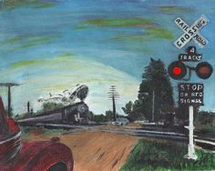 This painting is a view of a small slice of life in rural America in the not too distant past.