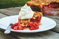 Strawberry Rhubarb Pie in a Buttermilk Crust - The Kitchenista Diaries