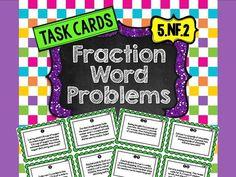 32 fraction task cards - 16 addition word problem cards and 16 subtraction word problem cards (scheduled via http://www.tailwindapp.com?utm_source=pinterest&utm_medium=twpin&utm_content=post1171047&utm_campaign=scheduler_attribution)