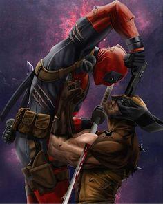 The Comic Ninja - Deadpool vs Wolverine Marvel Wolverine, Wolverine Tattoo, Marvel Comics Superheroes, Marvel Art, Marvel Characters, Marvel Heroes, Marvel Avengers, Deadpool Tattoo, Deadpool Wallpaper