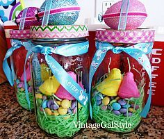 Mason jar easter gifts chocolate bunny grandkids and easter mason jars idea box by sheila negle Choice Image