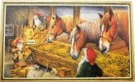 Stor bonad - Tomtar utfordrar hästar i ladugården av Erik Forman All Things Christmas, Christmas Crafts, Christmas Decorations, Thing 1, Cute Cards, Beautiful Christmas, Vintage Ads, Elves, Scandinavian