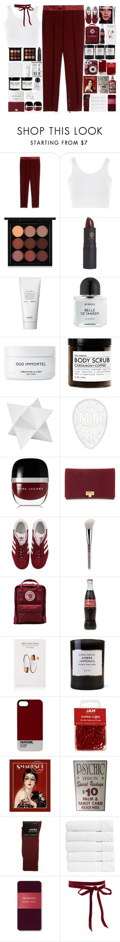 """6205"" by tiffanyelinor ❤ liked on Polyvore featuring Burberry, Topshop, MAC Cosmetics, Lipstick Queen, JorgObé, Prada, Byredo, Dot & Bo, Marc Jacobs and Tory Burch"
