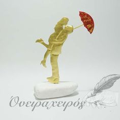 Δώρο για επέτειο, Ρομαντικό ζευγάρι με κόκκινη ομπρέλα Table Lamp, Table Lamps, Buffet Lamps