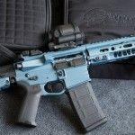 Rampart Coatings Blue Titanium AR-15