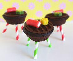 bbq traktatie van chocolade cupcakes
