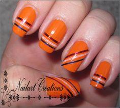 Nailart Creations: [Euro2012 Nailarts] Day 1: Striping Tape
