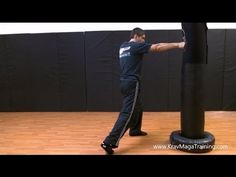 Krav Maga - Straight Punch - Rear Hand Cross (Proper Pivot) - YouTube